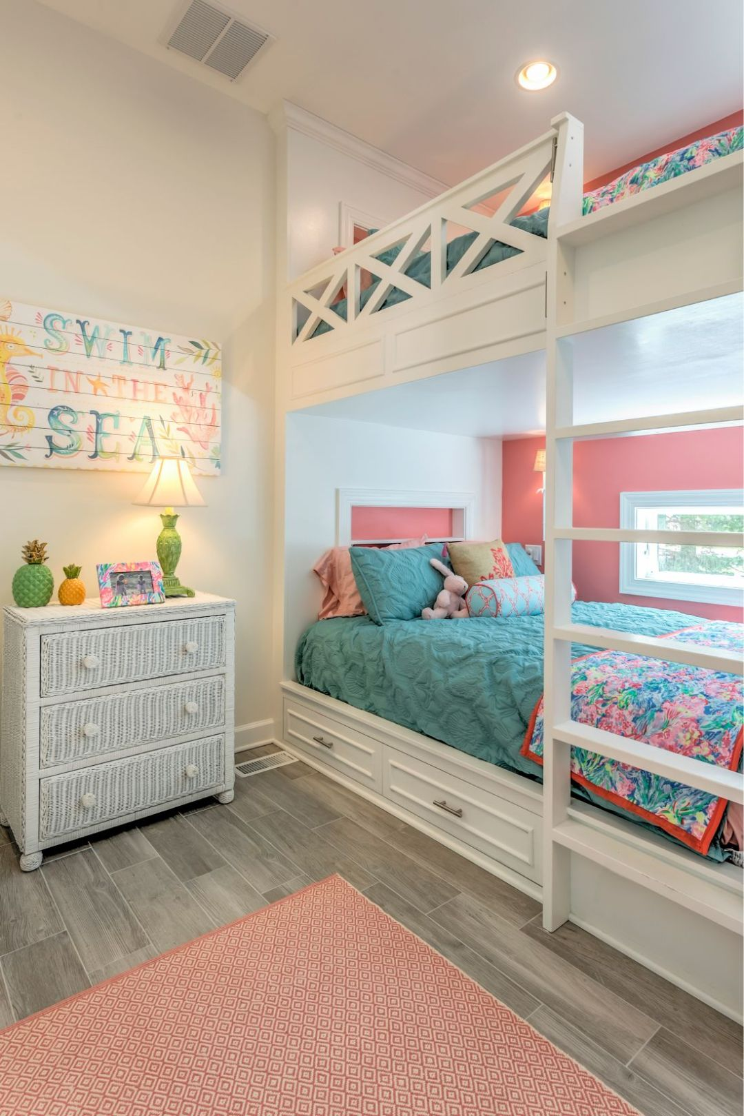 Addition in Juniper Court, Ocean Pines MD - Kids Bedroom with Light Wood Flooring and Recessed Can Lights