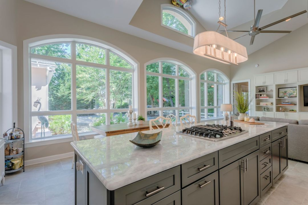 Addition in Juniper Court, Ocean Pines MD - Kitchen with Large Windows