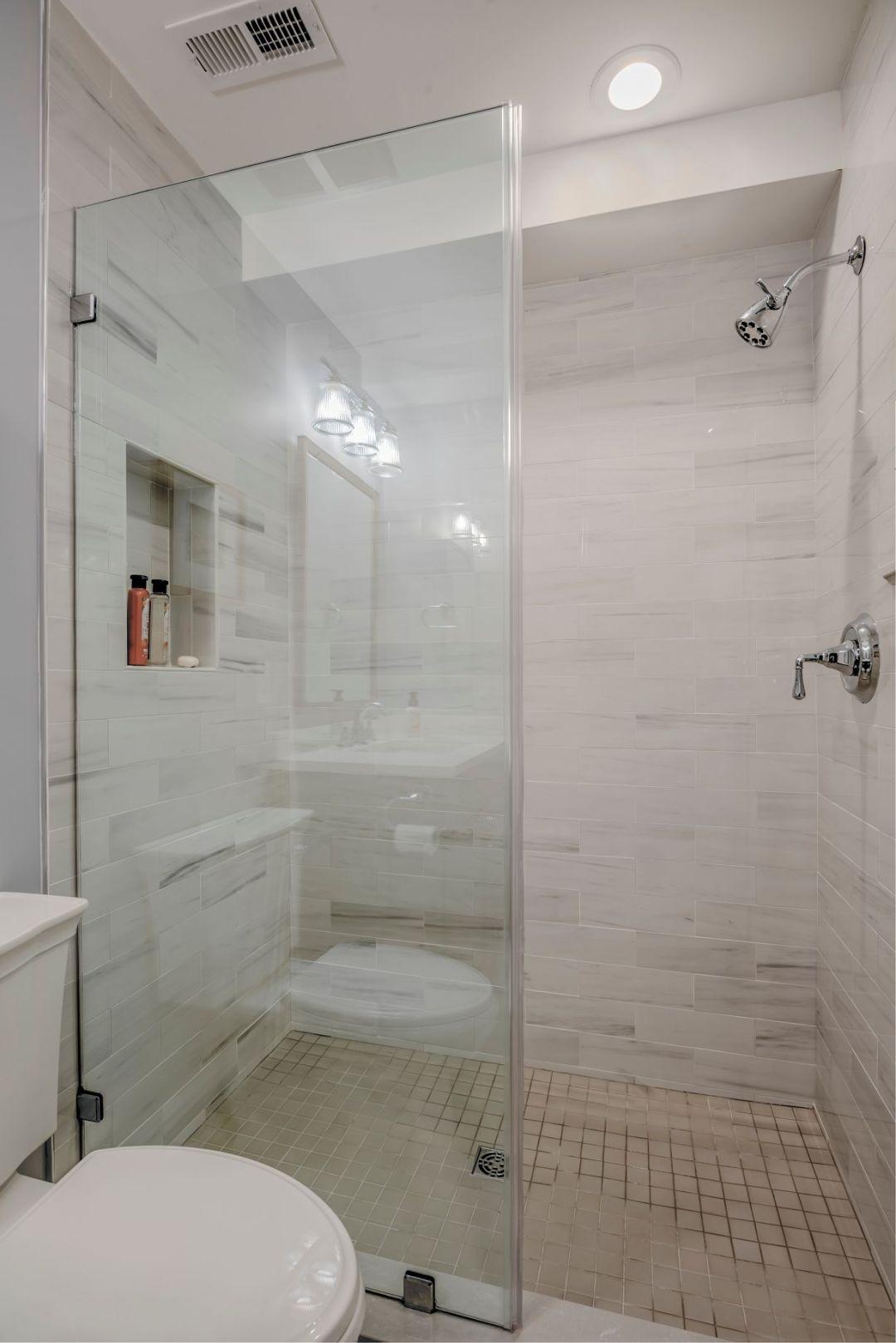 Bathroom Remodel in Kings Grant, Fenwick Island DE with Frameless Shower Door