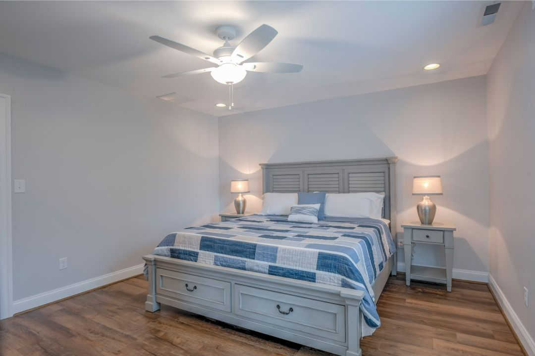 New Addition in October Glory, Ocean View DE - Bedroom with White Ceiling Fan