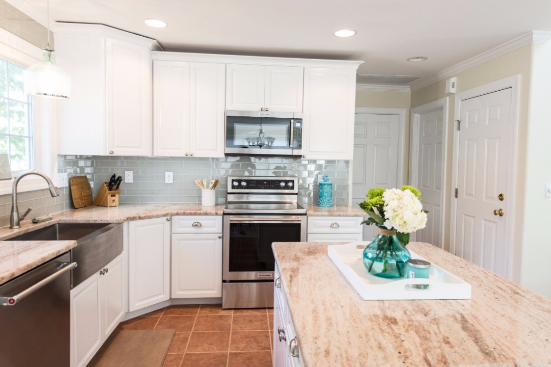 Traditional Kitchen Remodel in Pine Tree, Bethany Beach DE with Center Island with Astoria Granite Countertop