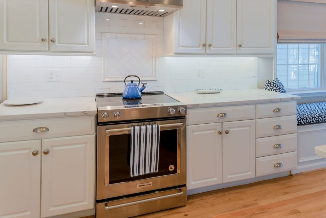 Kitchen Remodel in Willow Oak, Ocean View DE with Brushed Stainless Steel Oven