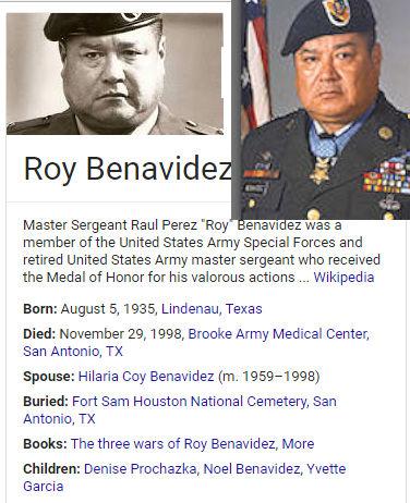 Master Sergeant Raul Perez Benavidez Usarmy Special Forces