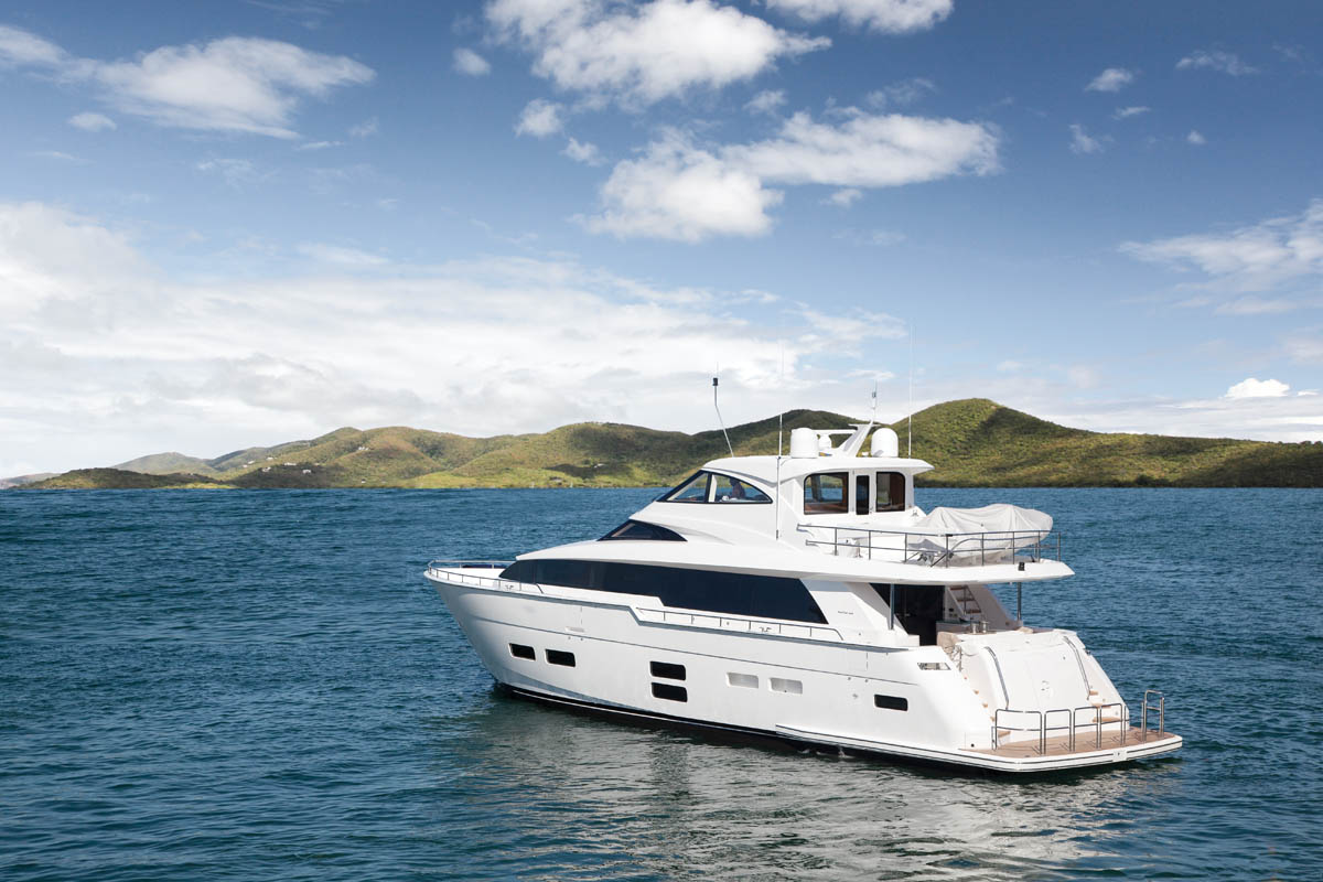 Hatteras 70 Motor Yacht Enclosed Bridge Sea Magazine