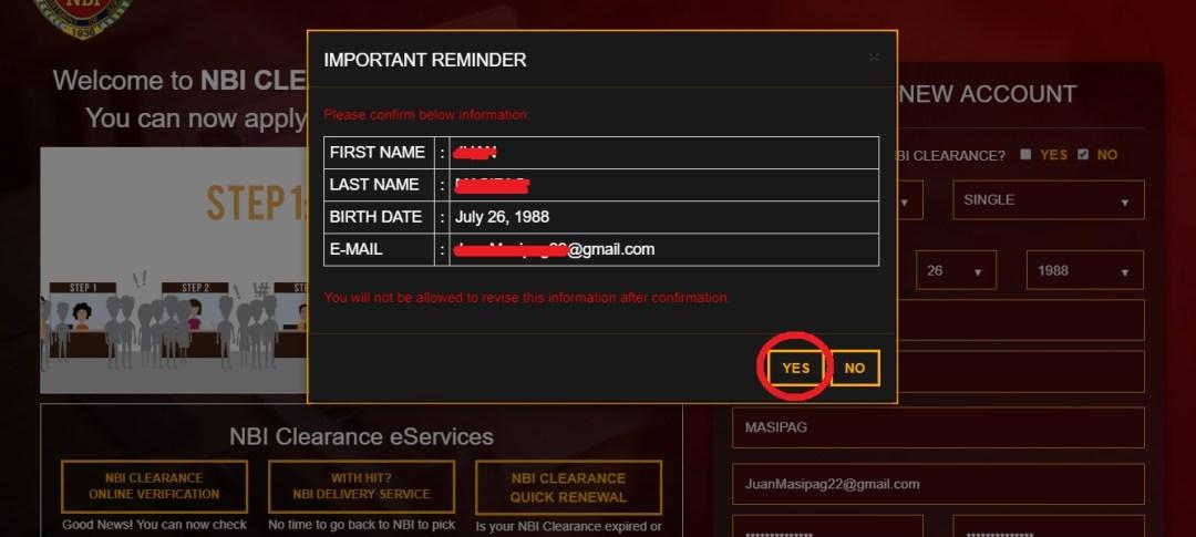 NBI Clearance Online Application Start Up