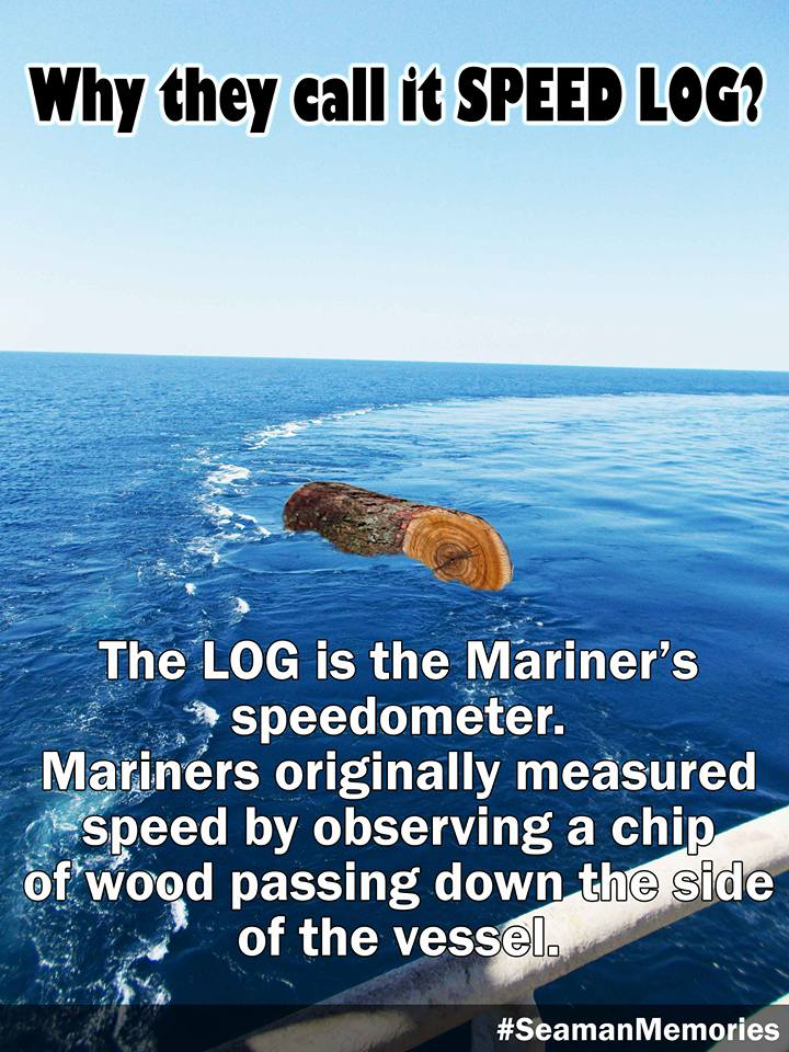 Why is it called speed log