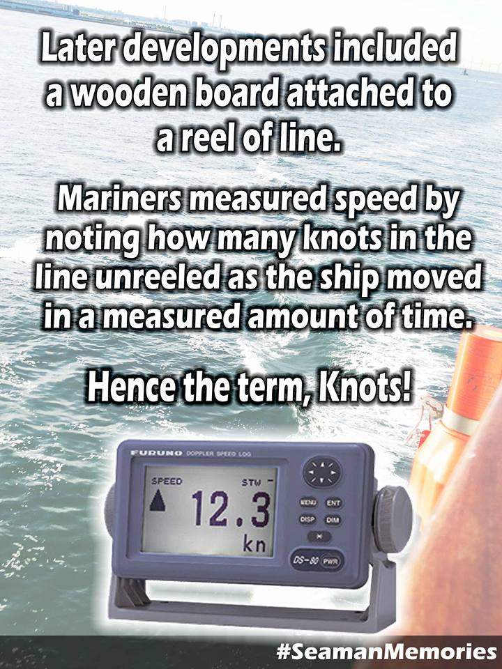 Why is the unit of speed for ships called KNOTS
