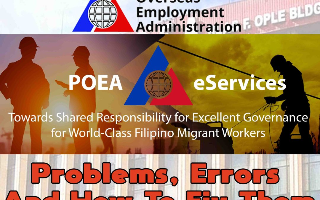 POEA e-Registration Problems, Errors and How to Fix Them