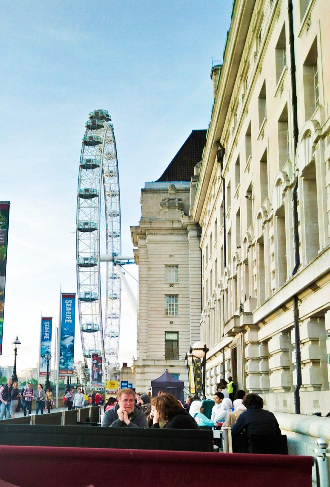 Taking a break near The London Eye