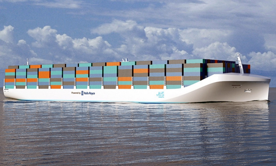 Container ship designed by Rolls Royce running on autonomous vessel technology