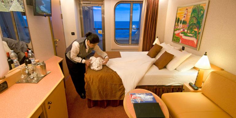 Housekeeping job in a cruise ship.