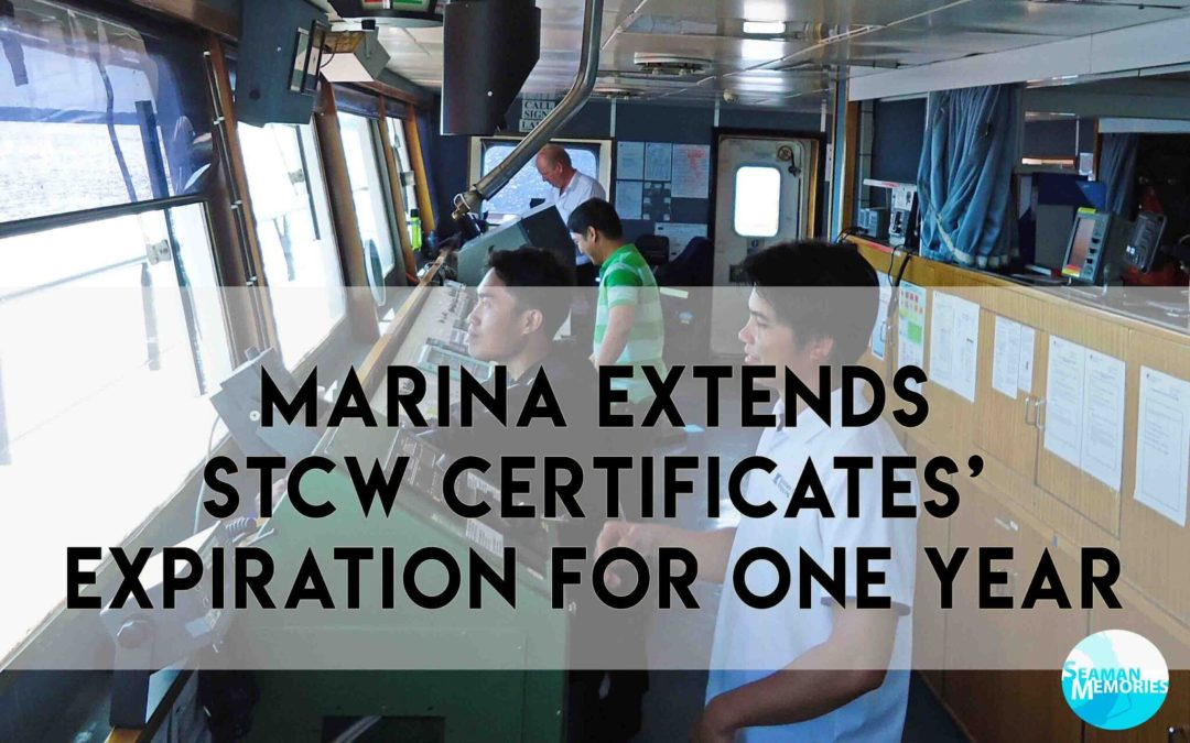 MARINA Extends STCW Certificates' Expiration for One Year
