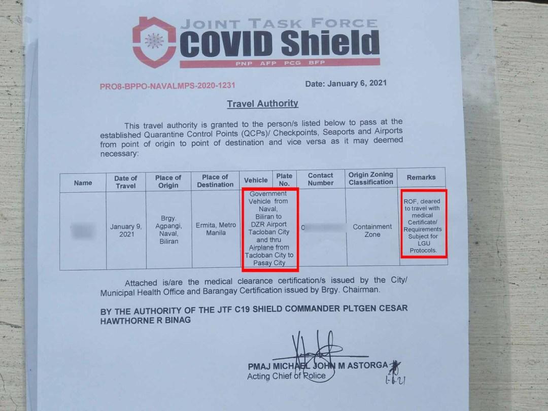 COVID Shield Travel Authority