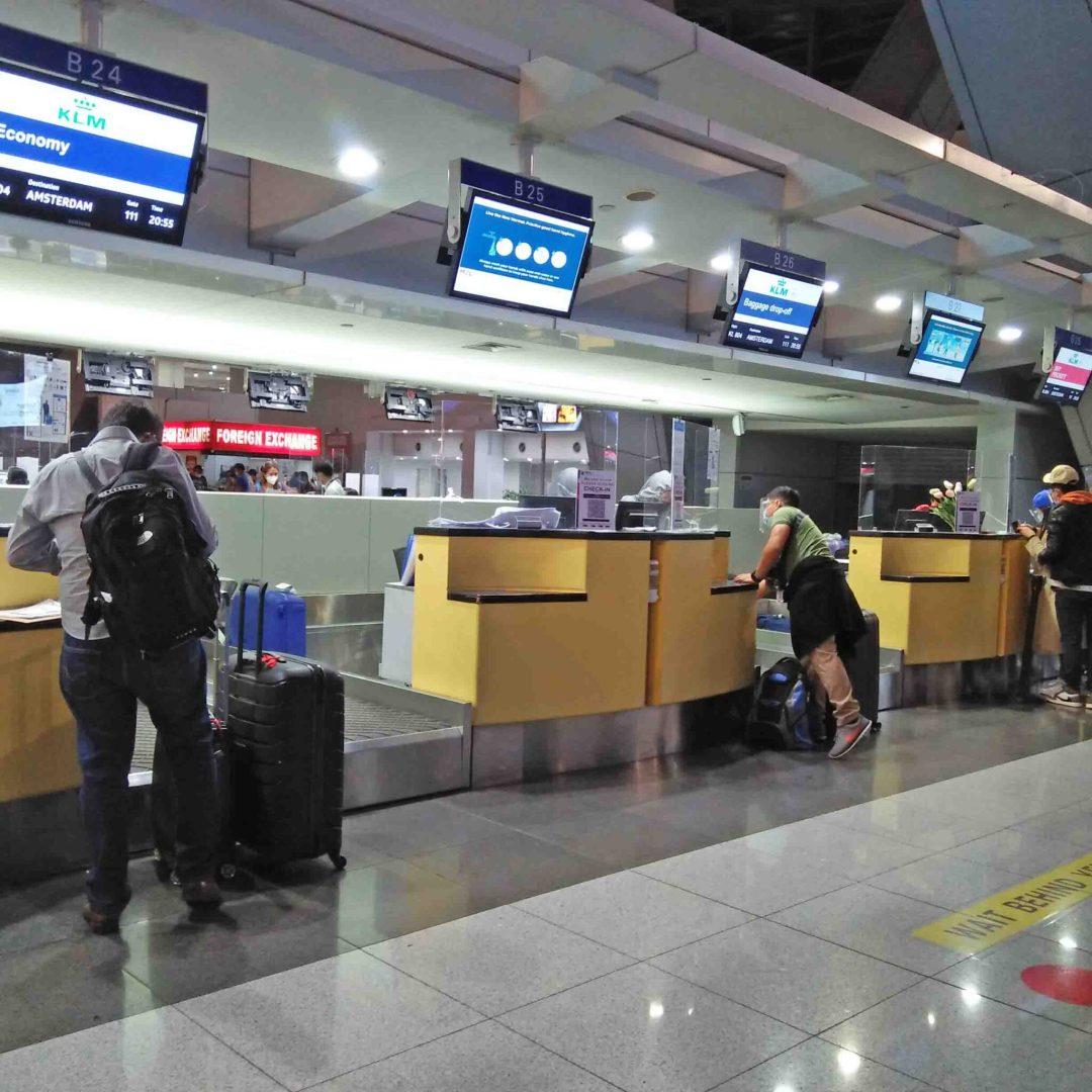 Check In Counter at the NAIA Terminal 3