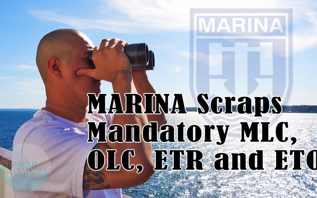 MARINA Scraps Mandatory MLC, OLC, ETR and ETO – a Huge Win for Filipino Seafarers