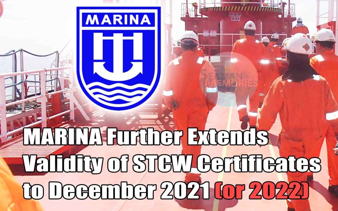 MARINA Further Extends Validity of STCW Certificates to December 2021/ 2022
