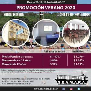 Santa Teresita - Hotel 17 de Noviembre