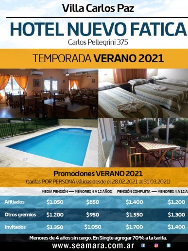 HOTEL FATICA CARLOS PAZ 2021