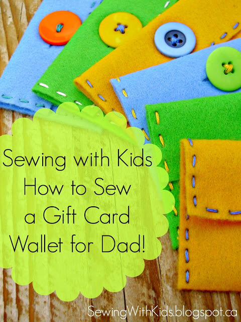 Sewing Project for Kids - gift card wallet
