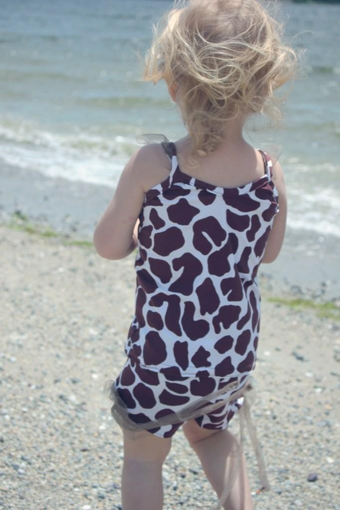 ruffle little girls swim tank and shorts sewing pattern