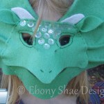Dragon Mask Halloween Sewing Pattern by Ebony Shae Designs