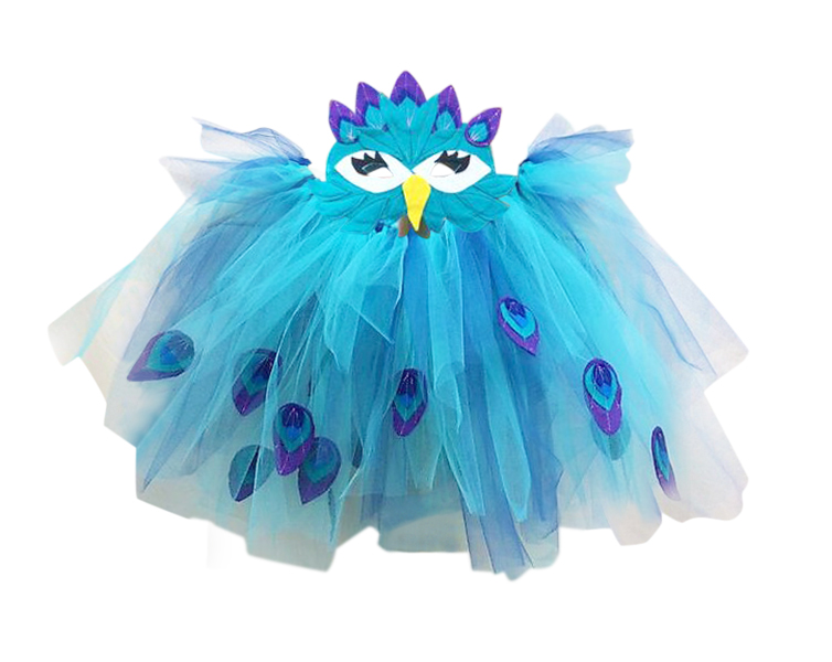 Peacock Halloween Sewing Pattern by Rebecca Page