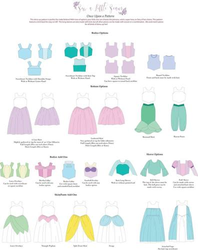 Ultimate Princess Dress Sewing Pattern! Sew all the Princesses with One Sewing Pattern