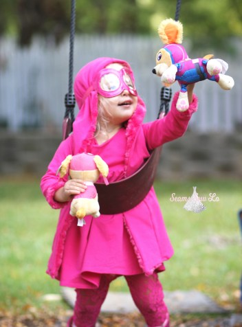 fly high with skye halloween costume for little girls