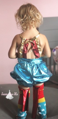 girls wonder woman diy halloween costume