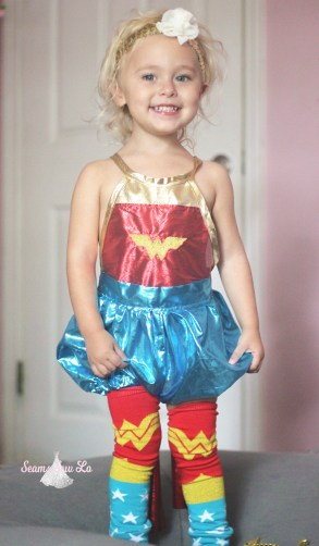 girls wonder woman sewing pattern costume