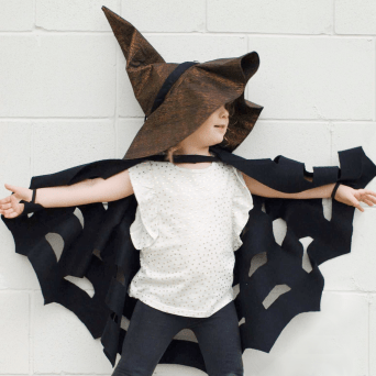 halloween cape and witch hat sewing pattern