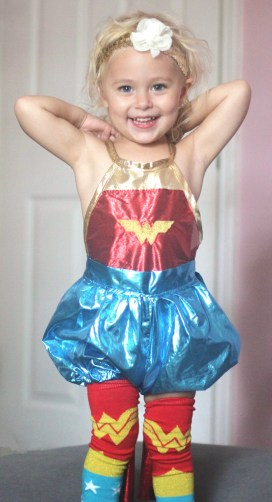 homemade wonder woman costume for girls