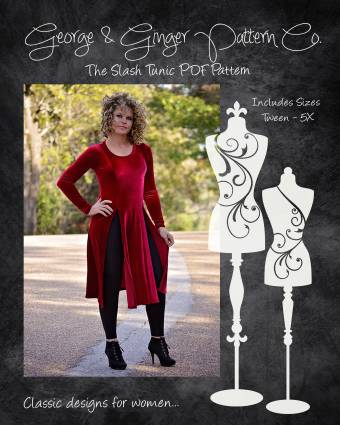 slash tunic sewing pattern release by george and ginger