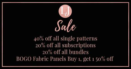 black friday sale laela jeyne sewing patterns