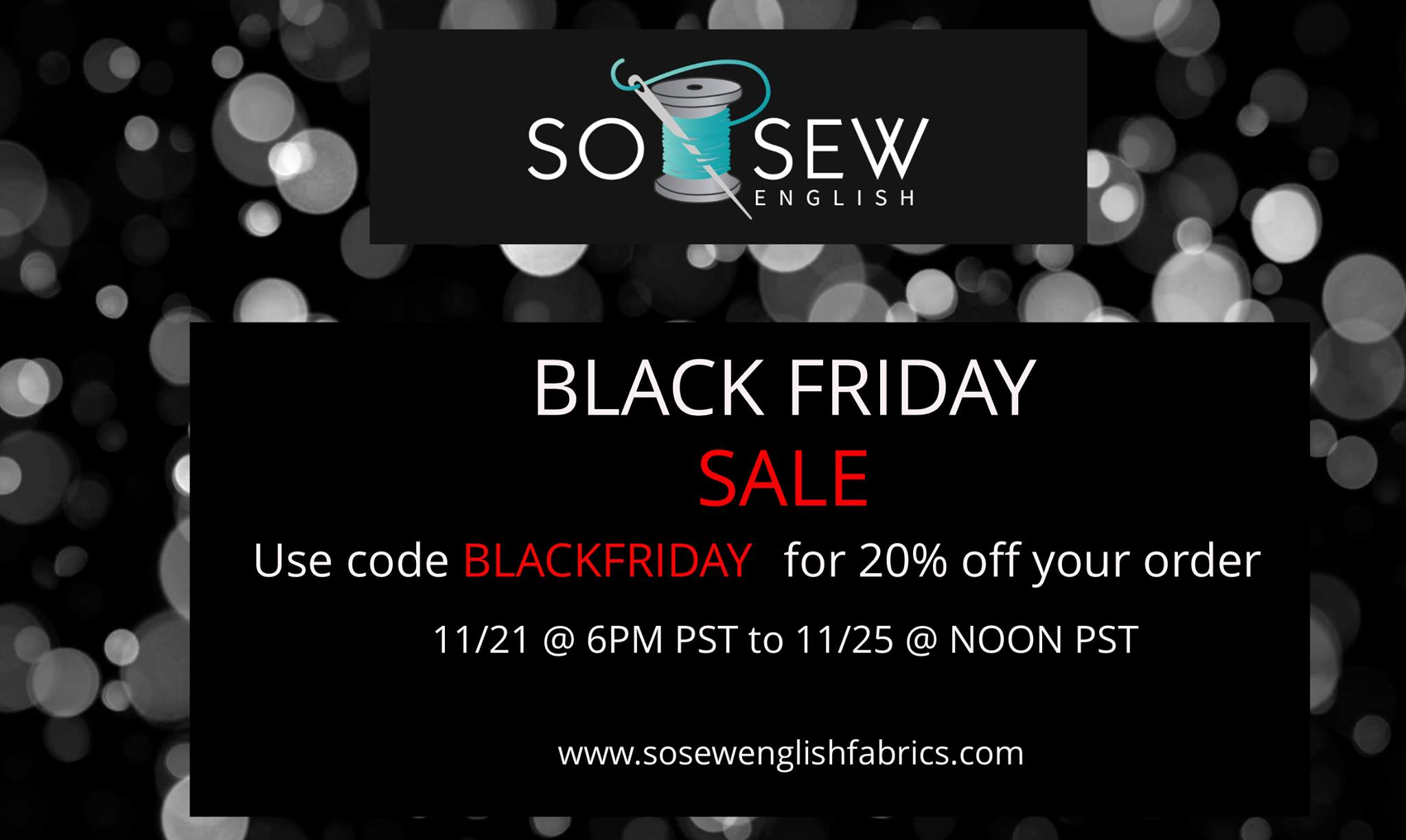 black friday sale so sew english