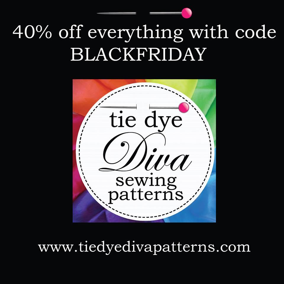 black friday sale tie dye diva sewing patterns