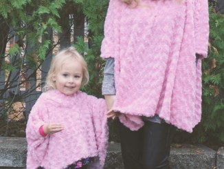mommy and me poncho sewing pattern pink minky fabric