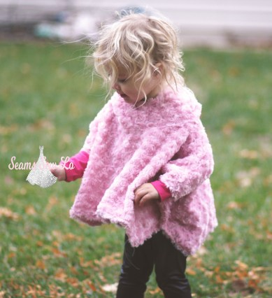 seamingly smitten poncho girls sewing pattern 9