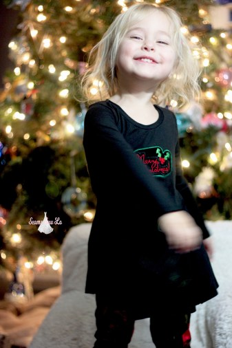 Girls Christmas Outfit Sewing Pattern and Embroidery Design