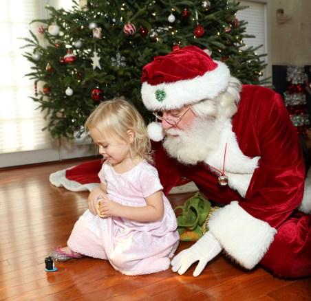 Girls Pink Santa Dress