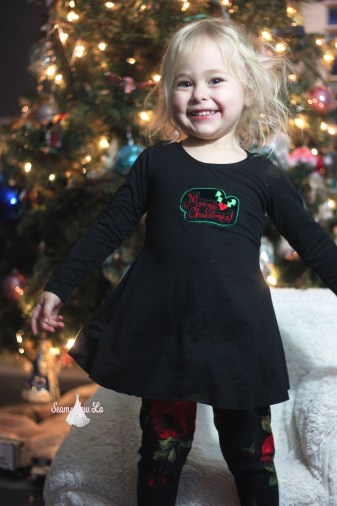 merry christmas embroidery design christmas sweetie tunic ellie and mac