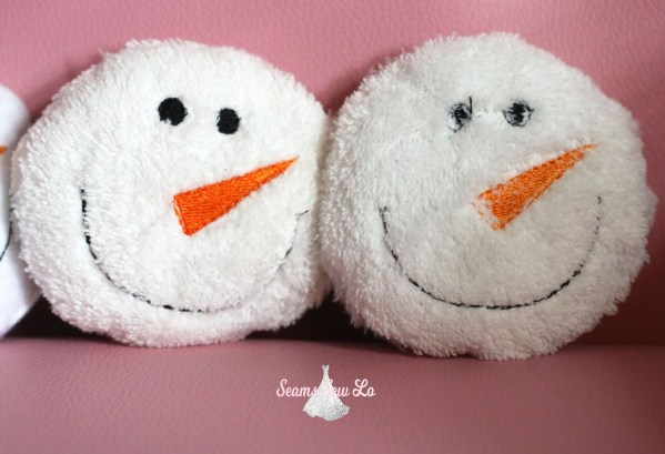 snowball embroidery design toy diy christmas furry