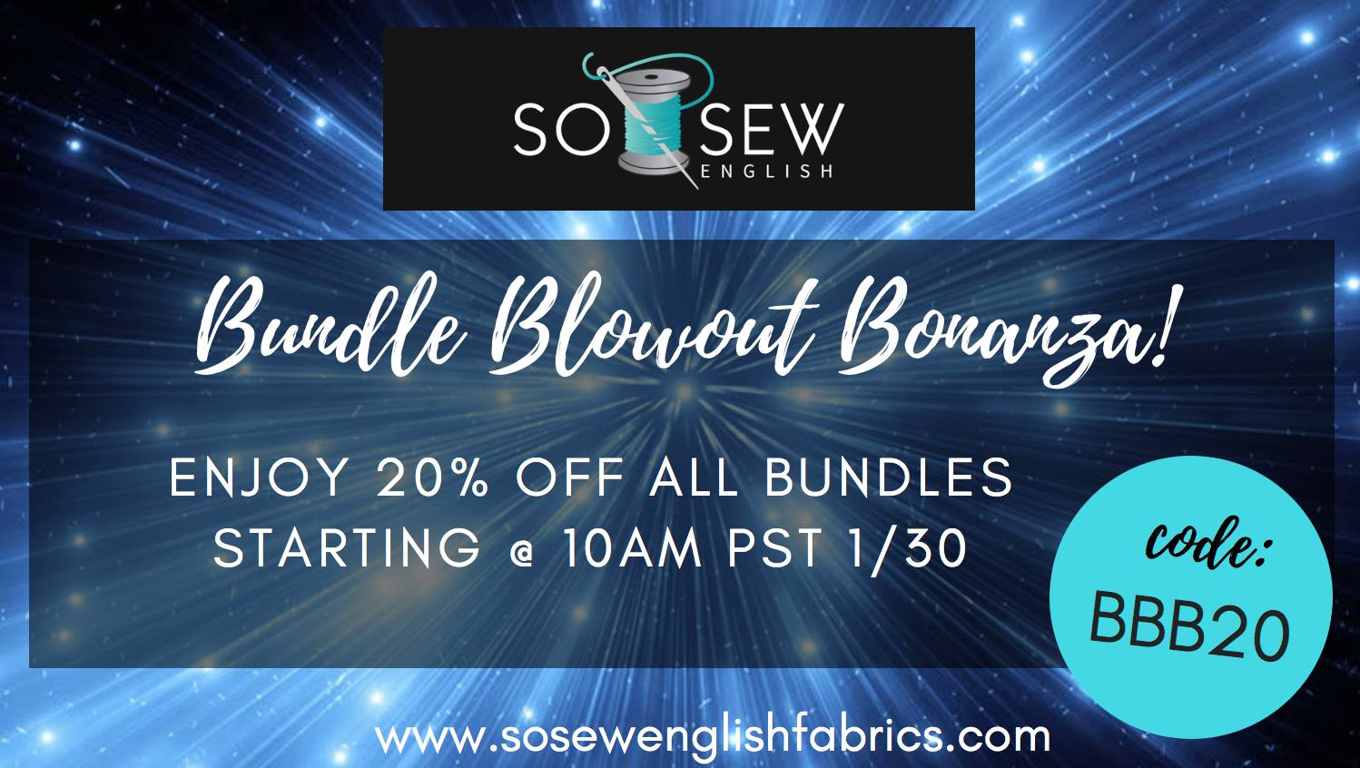 So Sew English Fabrics Bundle Blow Out Sale