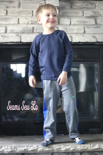 boys raglan sewing pattern in french terry