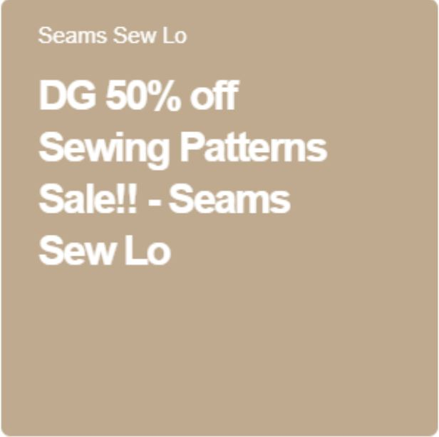 dg sewing patterns sale 50% off