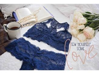 lace bralette and panties sew a long and sale