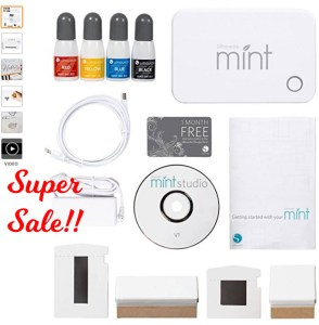 Silhouette Mint Stamp Kit and Ink Bottles Super Sale Buy it now