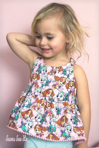 girls woven tunic sewing pattern periwinkle by petite stitchery 2