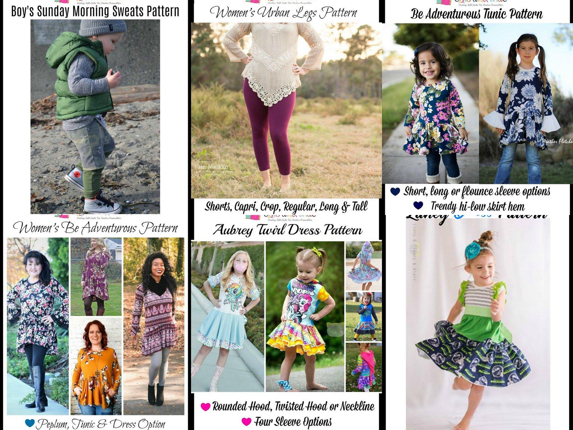 wacky wednesday $1 Sewing Patterns Februrary 6 2018