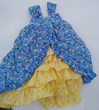 Easter Dress Sewing Pattern, Tea Party Dress. Sewing Pattern by The Handmaiden's Cottage, Sewn by Kathy's Kwilts and More.